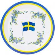 papptallrikar-svenska-flaggan