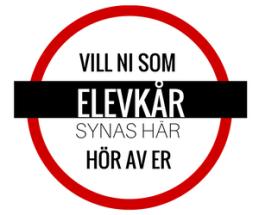 Röd 14 taggad ikon med text om elevkårer vill synas här