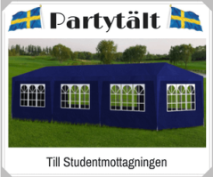 Partytält till studentmottagning