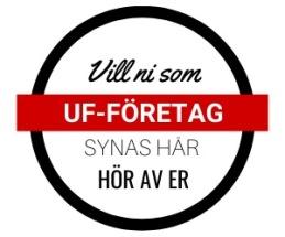 Röd 14 taggad ikon med text om UF-Företag vill synas här
