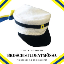 Brosch Studentmössa