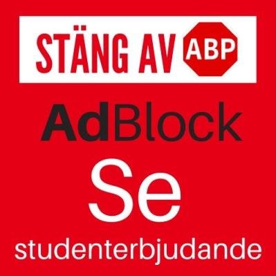 AdBlock behövs stängas av för att höra eller se alla studenterbjudanden