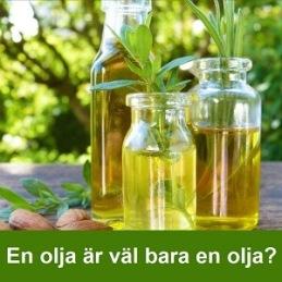 På ekohyllan en olja är väl bara en olja?