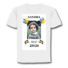 T-shirt som Studentskylt