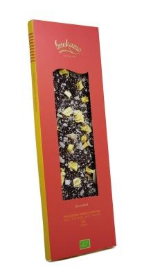 EKOLOGISK MÖRK CHOKLAD MED KOKOS OCH ANANAS 70 % kakao 100 g