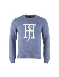 Round neck logo knit jumper - Hansen & Jacob - XL