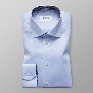 Eton - Ljusblå skjorta med Paisleydetaljer - 39