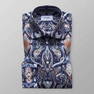 Eton - Paisleymönstrad skjorta - 38