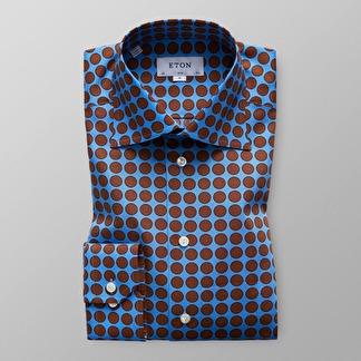 Eton - Storprickig skjorta - 38