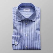 Eton - Blårandig twillskjorta