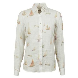 Stenströms - Boat linen classic shirt - 34