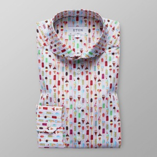 Eton - Skjorta med glassmotiv - 41