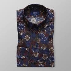 Blå & rödblommig skjorta - Eton