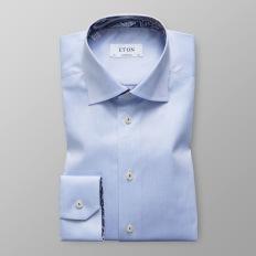 Eton - Ljusblå skjorta med Paisleydetaljer