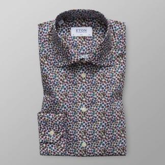 Småblommig skjorta - Eton - 39