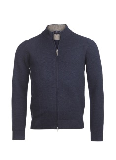 Hansen & Jacob - Full zip structure knit - S