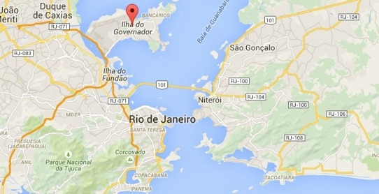 Casas da Noruega kart over Rio de Janeiro Brasil