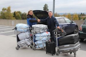 Foto Casas da Noruega leverer bilen på OSL til Flight Park