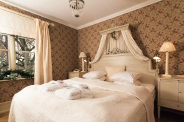 Här sover man gott. Nästan alla sängar är Svanenmärkta från Bed Factory och gästerna sover som prinsar och prinsessor i dem.