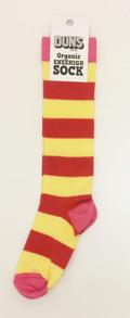 Knästrumpor - Knästrumpor röd/gul 25-28