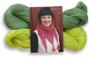 Stickset liten sjal - Stickset liten sjal lime/bladgrön
