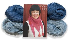 Stickset liten sjal - Stickset liten sjal blå/ljusblå
