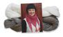 Stickset liten sjal - Stickset liten sjal oblekt/vit
