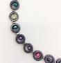 Halsband hematit och pärlor