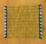 Disktrasa, handvävd - Handvävd disktrasa gul