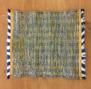 Disktrasa, handvävd - Handvävd disktrasa blågul