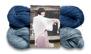 Stickset stor sjal - Stickset stor sjal blå/ljusblå