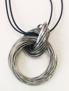 Halsband rostfria ringar