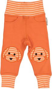 Bebisbyxor med Doddi - Byxor med Doddi orange/beige 50/56