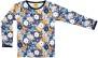 Tröja långärmad blommor - Långärmad tröja blå 134