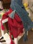 Stickset liten sjal
