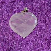 Hjärtan i Rosenkvarts, Ametist eller Bergkristall