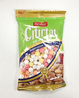 Sockrade och färgade kikärter (rostade), Besler, 250g -