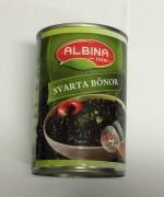 Svarta bönor, Albina Food, 400g