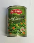 Ärtor & morötter, Albina Food, 400g
