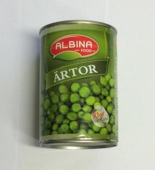 Ärtor, Albina Food, 400g -