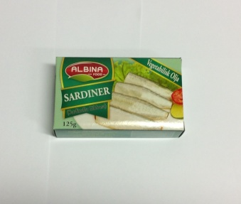 Sardiner (olja), Albina Food, 125g -