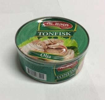 Tonfisk (olja), Albina Food, 160g -