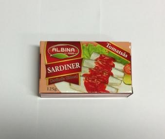 Sardiner (tomatsås), Albina Food, 125g -