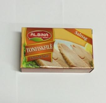 Tonfiskfilé (vatten), Albina Food, 120g -