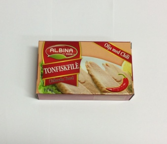 Tonfiskfilé (olja m. chili), Albina Food, 120g -