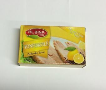 Tonfiskfilé (olja m. citronpeppar), Albina Food, 120g -