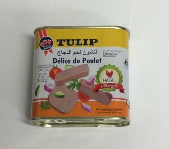 Mortadella (kyckling), Tulip, 340g -