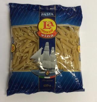 Pasta (penne rigate), Lavina, 400g -