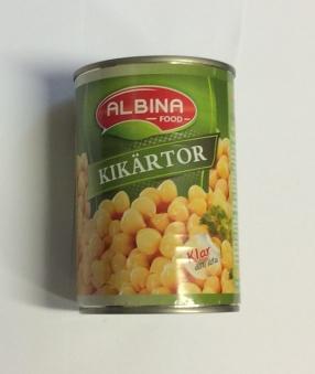 Kikärtor, Albina Food, 400g -