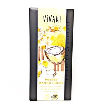 Choklad/ Vivani, VitChoklad Mango&Kokos